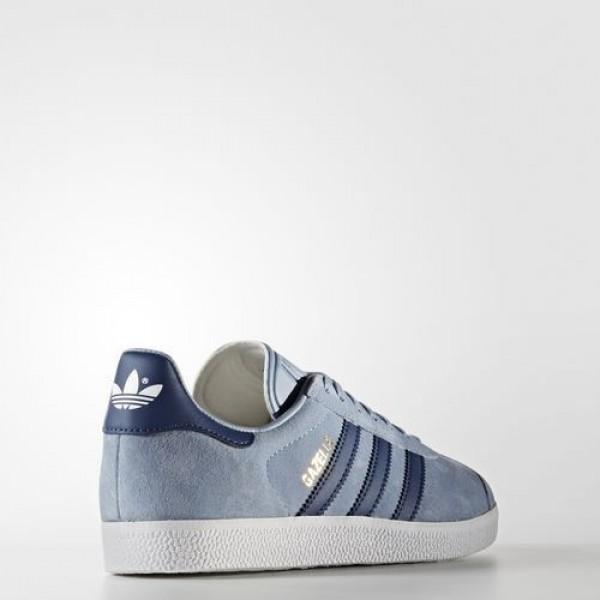 Adidas Gazelle Femme Tactile Blue/Mystery Blue/Footwear White Originals Chaussures NO: BA7657