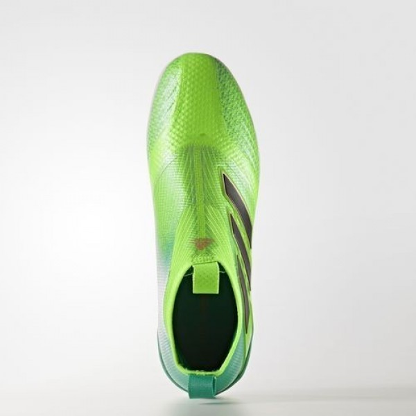 Adidas Ace Tango 17+ Purecontrol Turf Homme Solar Green/Core Black/Core Green Football Chaussures NO: S82080