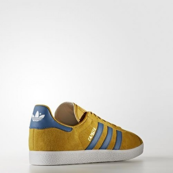 Adidas Gazelle Homme Nomad Yellow/Core Blue/Footwear White Originals Chaussures NO: BB5258