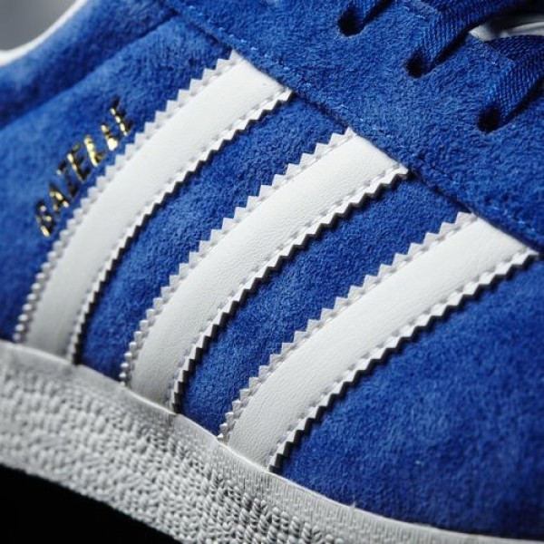 Adidas Gazelle Femme Collegiate Royal/White/Gold Metallic Originals Chaussures NO: S76227