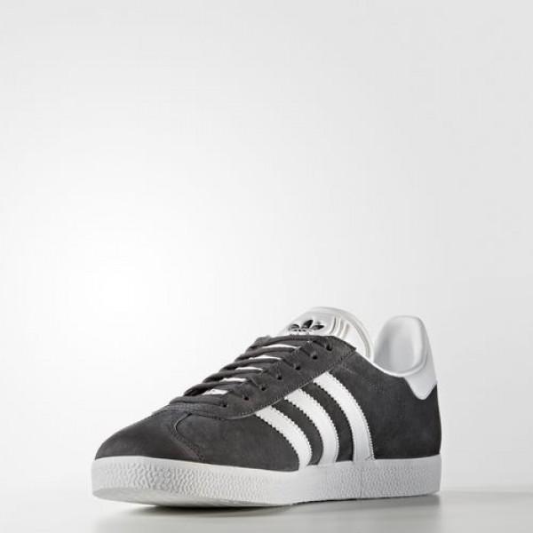 Adidas Gazelle Femme Dark Grey Heather Solid Grey/White/Gold Metallic Originals Chaussures NO: BB5480