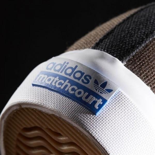 Adidas Matchcourt Remix High Homme Core Black/Footwear White/Brown Originals Chaussures NO: BB8590