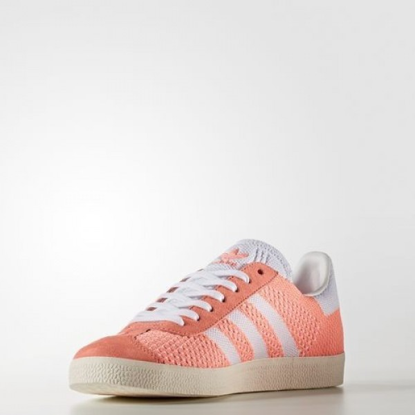 Adidas Gazelle Primeknit Femme Sun Glow/Footwear White/Chalk White Originals Chaussures NO: BB5211
