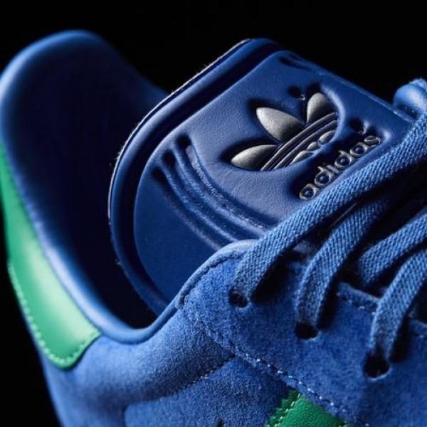Adidas Gazelle Homme Blue/Core Green/Gum Originals Chaussures NO: BB2755