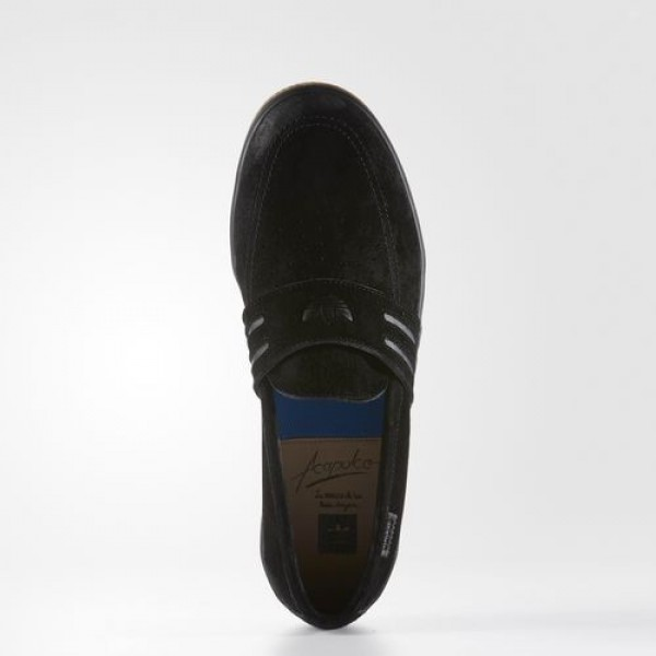 Adidas Acapulco Homme Core Black/Gum Originals Chaussures NO: BB8428
