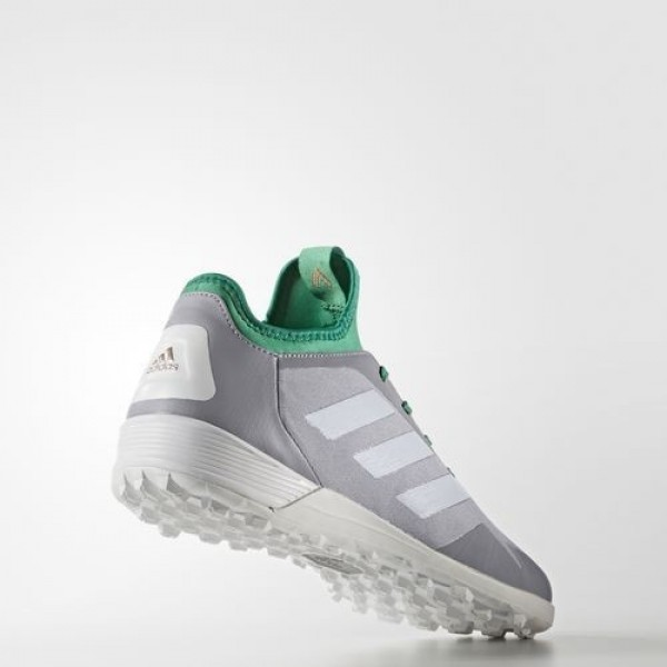 Adidas Ace Tango 17.2 Turf Homme Mid Grey/Clear Onix/Core Green Football Chaussures NO: S80691