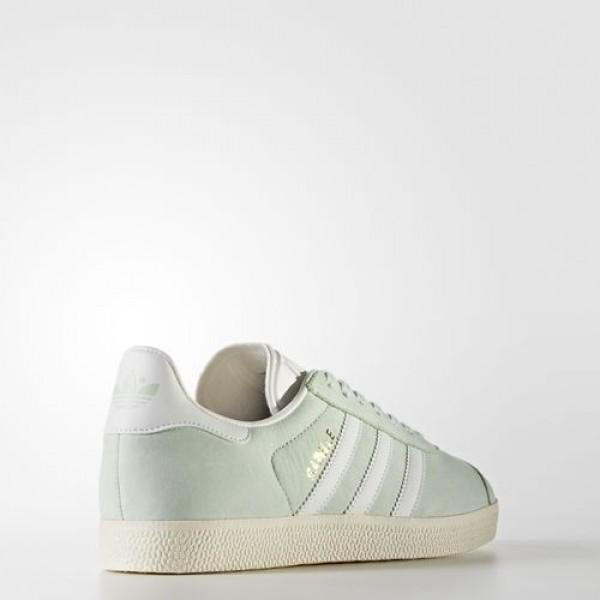 Adidas Gazelle Femme Linen Green / Ftwr White / Cream White Originals Chaussures NO: BY9034