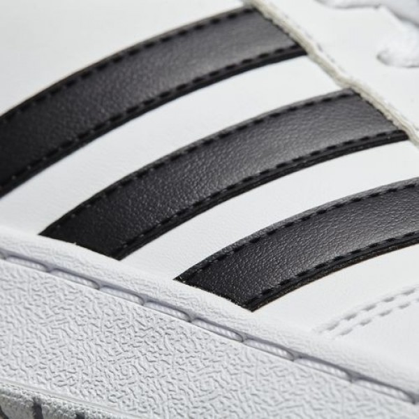 Adidas Vs Hoops Mid Homme Footwear White/Core Black/Scarlet neo Chaussures NO: B74501