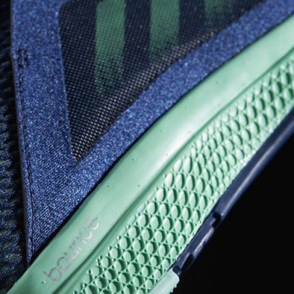 Adidas Edge Luxe Femme Mystery Blue/Easy Green/Silver Metallic Running Chaussures NO: BW0411