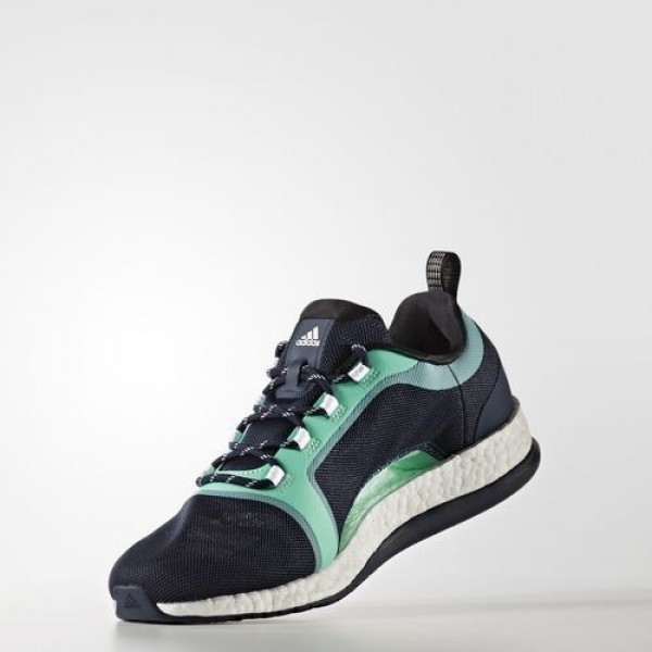 Adidas Pure Boost X Trainer 2.0 Femme Collegiate Navy/Core Black/Easy Green Training Chaussures NO: BA7956