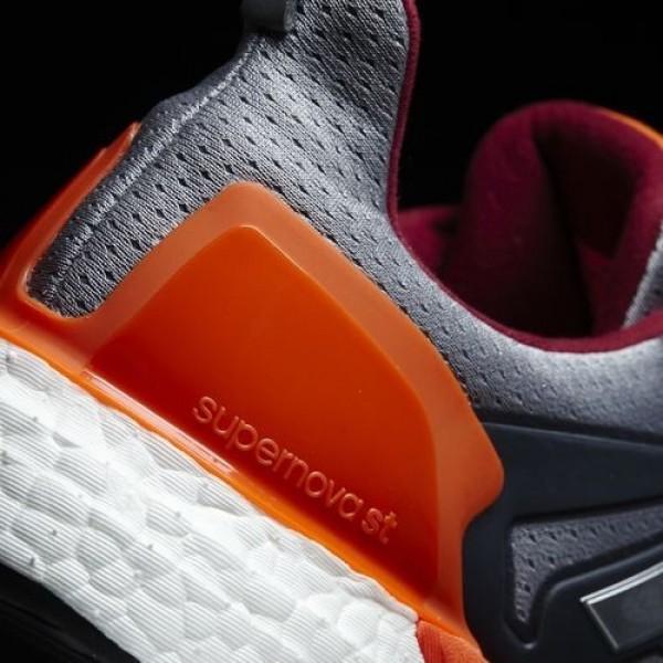 Adidas Supernova St Homme Mid Grey/Silver Metallic/Energy Running Chaussures NO: BB0992