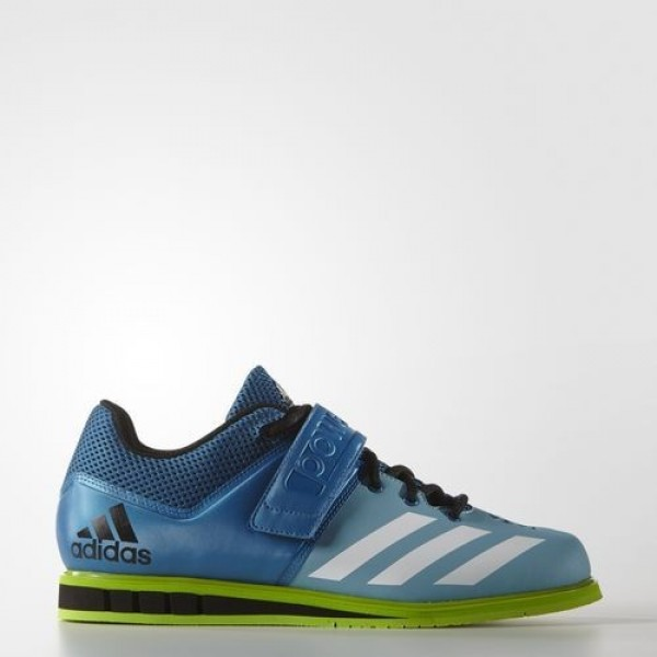 Adidas Powerlift.3 Homme Unity Blue/Footwear White/Semi Solar Green Training Chaussures NO: AQ3331