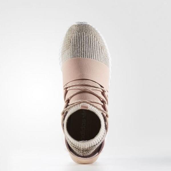 Adidas Tubular Doom Primeknit Femme Pale Nude/Clear Brown/Vintage White Originals Chaussures NO: BB2390