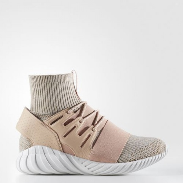 Adidas Tubular Doom Primeknit Homme Pale Nude/Clear Brown/Vintage White Originals Chaussures NO: BB2390