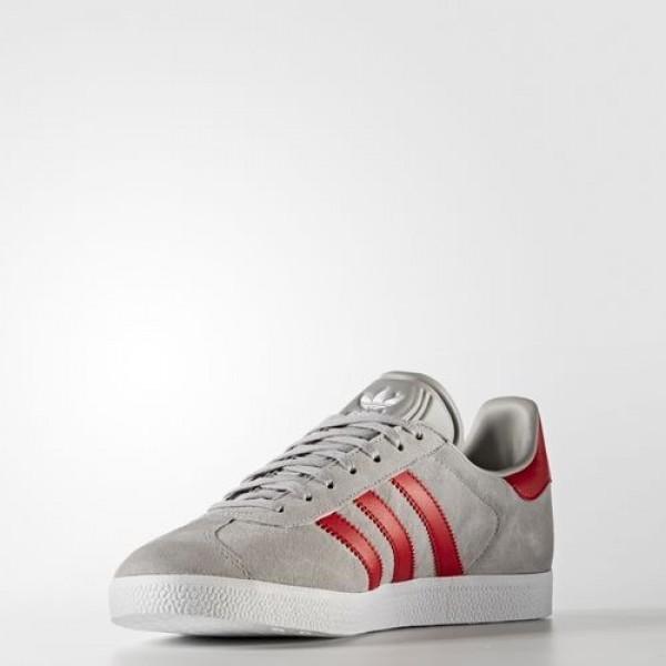 Adidas Gazelle Homme Medium Grey Heather Solid Grey/Scarlet/Footwear White Originals Chaussures NO: BB5257