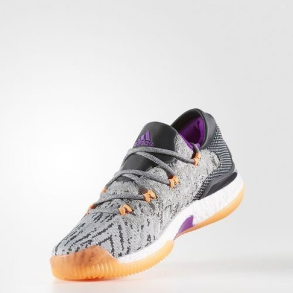 Adidas Crazylight Boost Low 2016 Homme Medium Grey Heather Solid Grey/Dark Grey Heather Solid Grey/Lgh Solid Grey Basketball Chaussures NO: BB8384