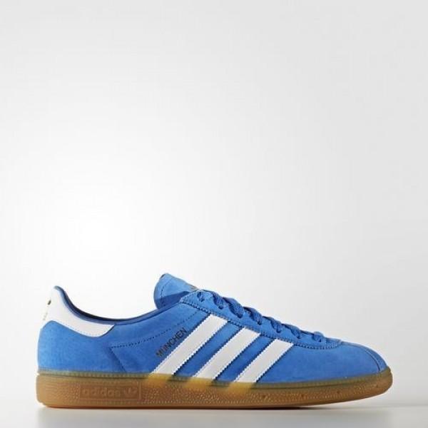 Adidas München Homme Blue/Footwear White/Gum Originals Chaussures NO: BB2777