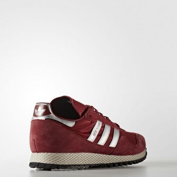 Adidas New York Femme Collegiate Burgundy/Matte Silver/Mystery Red Originals Chaussures NO: BB1189