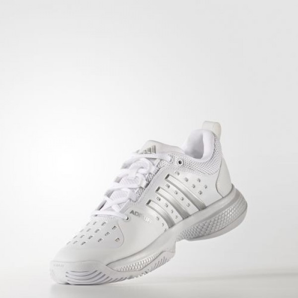 Adidas Barricade Classic Bounce Femme Footwear White/Silver Metallic/Lgh Solid Grey Tennis Chaussures NO: BY2926