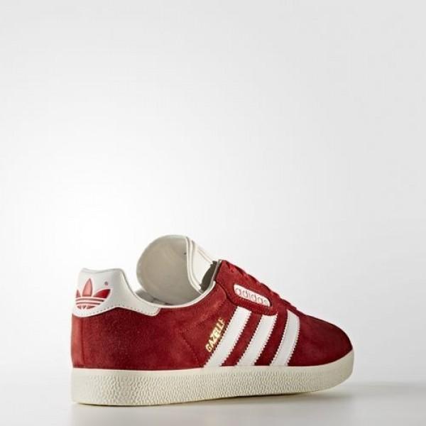 Adidas Gazelle Super Homme Red/Vintage White/Gold Metallic Originals Chaussures NO: BB5242