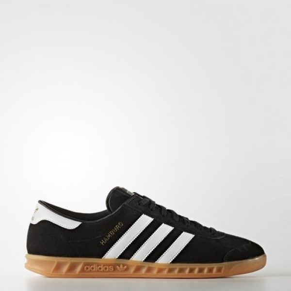 Adidas Hamburg Homme Core Black/Footwear White/Gum Originals Chaussures NO: S76696