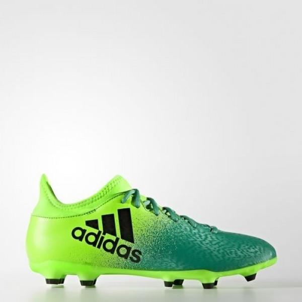 Adidas X 16.3 Terrain Souple Homme Solar Green/Cor...