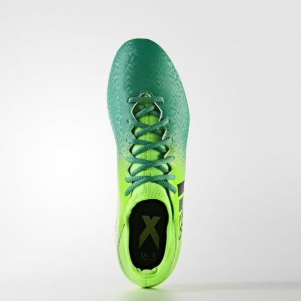 Adidas X 16.3 Terrain Souple Homme Solar Green/Core Black/Core Green Football Chaussures NO: BB5855