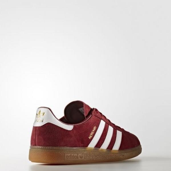Adidas München Homme Collegiate Burgundy/Footwear White/Gum Originals Chaussures NO: BB2776