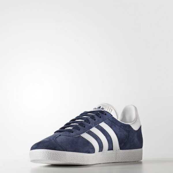 Adidas Gazelle Homme Collegiate Navy/White/Gold Metallic Originals Chaussures NO: BB5478