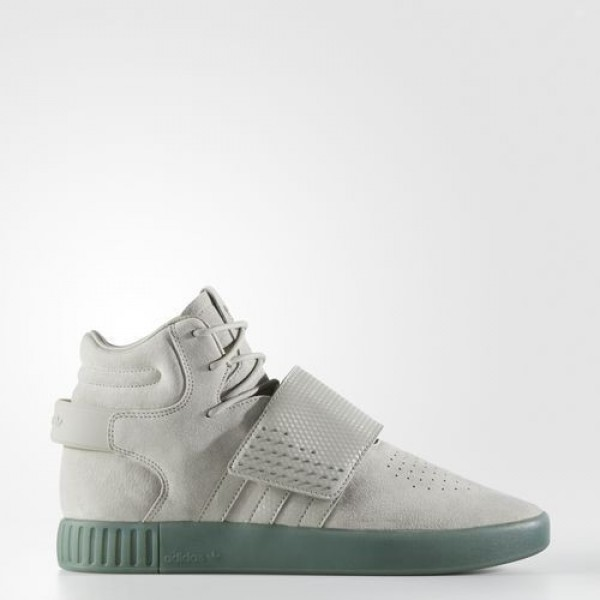 Hommes Originals  Chaussure Tubular Invader Strap Couleur Sesame/Sesame/Trace Green (BY3635)