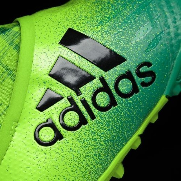 Adidas X Tango 16+ Purechaos Turf Homme Solar Green/Core Black/Core Green Football Chaussures NO: S82084