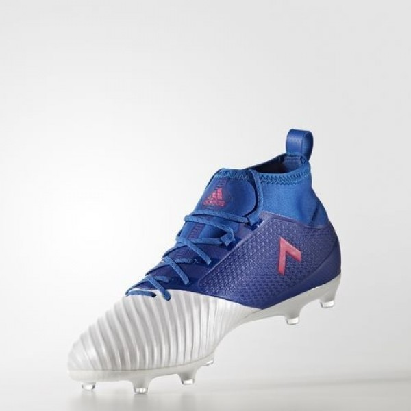 Adidas Ace 17.2 Primemesh Terrain Souple Homme Blue/Shock Pink/Footwear White Football Chaussures NO: BB4323