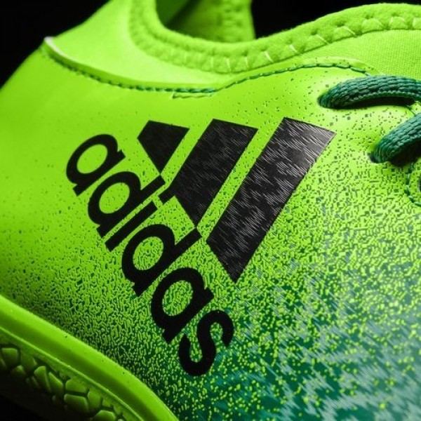 Adidas X 16.3 Indoor Homme Solar Green/Core Black/Core Green Football Chaussures NO: BB5867