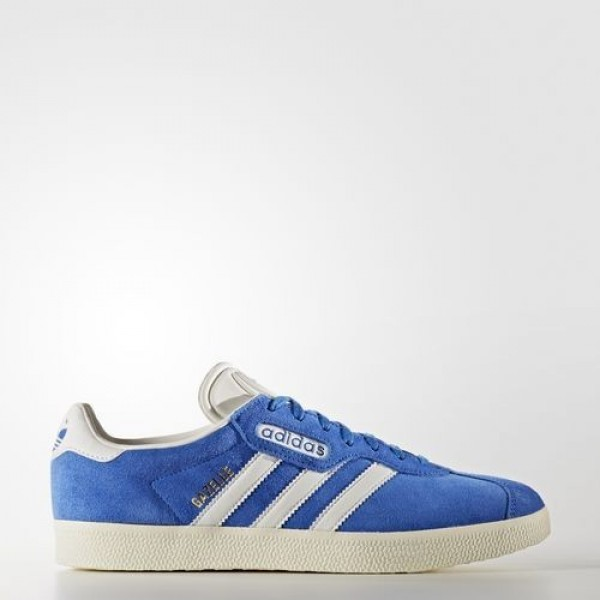 Adidas Gazelle Super Femme Blue/Vintage White/Gold...