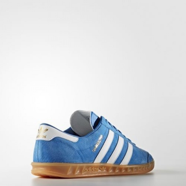 Adidas Hamburg Homme Bluebird/Footwear White/Gum Originals Chaussures NO: S76697