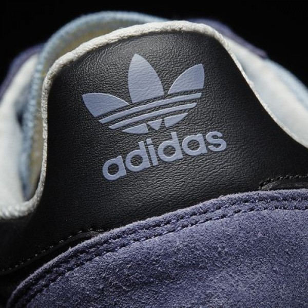 Adidas Haven Homme Easy Blue/Core Black/Solar Yellow Originals Chaussures NO: BB1282