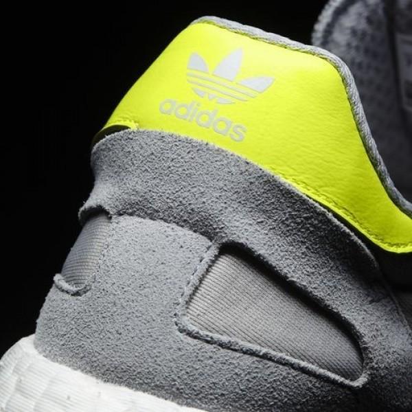 Adidas Iniki Runner Femme Clear Onix/Solar Yellow/Footwear White Originals Chaussures NO: BB0001