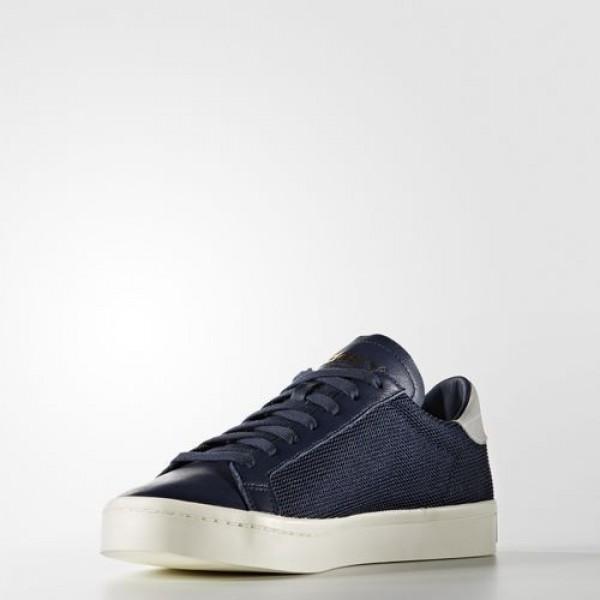 Adidas Court Vantage Femme Collegiate Navy/Footwear White Originals Chaussures NO: S76197