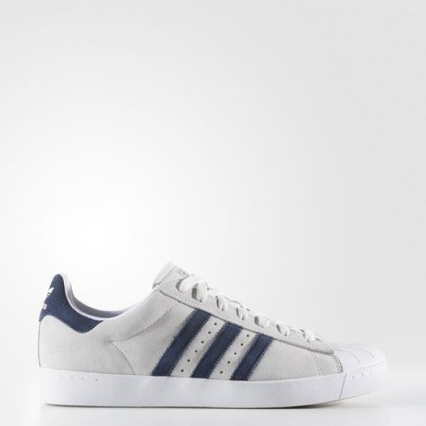 Adidas Superstar Vulc Adv Homme Crystal White/Collegiate Navy/Footwear White Originals Chaussures NO: BB8609