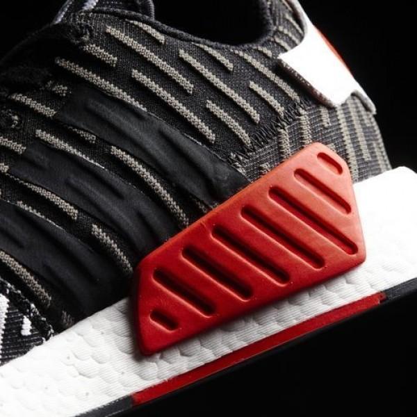 Adidas Nmd_R2 Primeknit Femme Core Black/Footwear White Originals Chaussures NO: BB2951