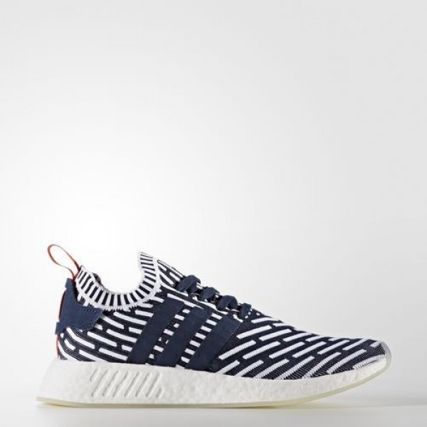 Adidas Nmd_R2 Primeknit Homme Collegiate Navy/Coll...