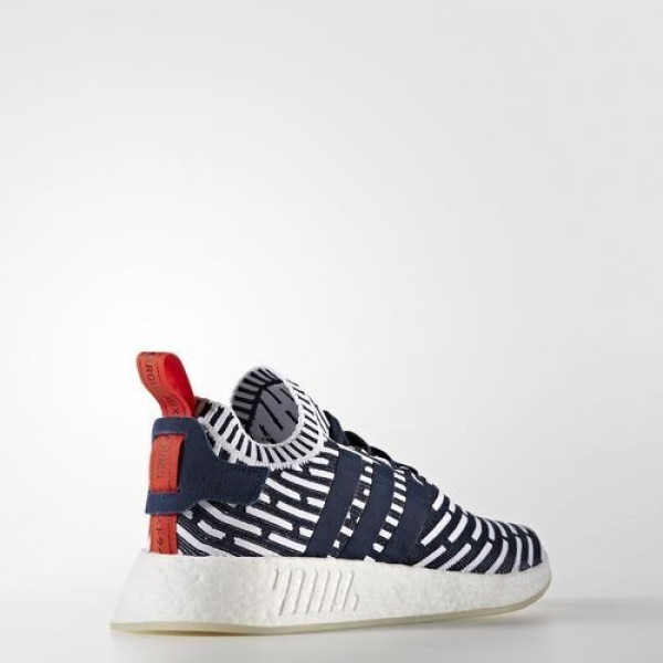 Adidas Nmd_R2 Primeknit Homme Collegiate Navy/Collegiate Green/Footwear White Originals Chaussures NO: BB2909
