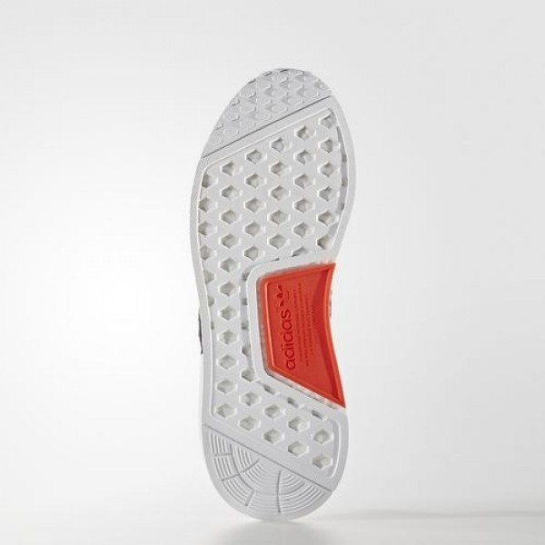 Adidas Nmd_Xr1 Primeknit Femme White/Core Black/Semi Solar Red Originals Chaussures NO: S32216