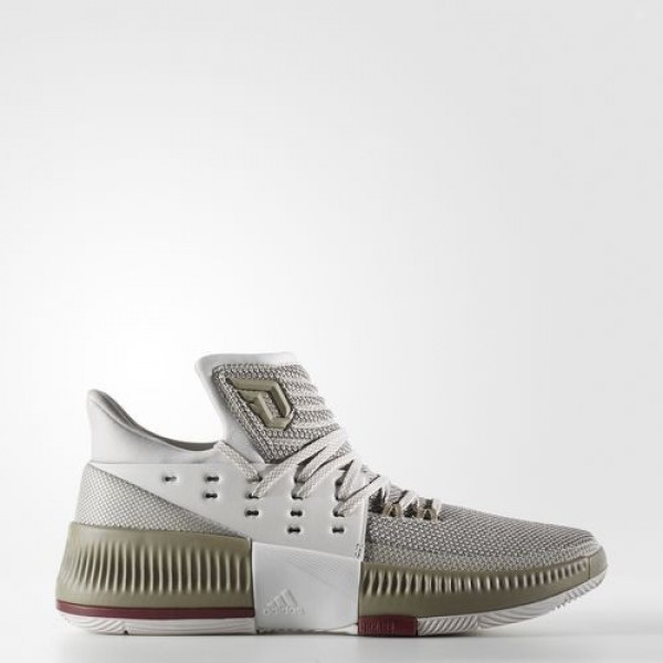 Adidas Dame 3 West Campus Homme Pearl Grey/Collegiate Burgundy/Trace Cargo Basketball Chaussures NO: BW0326