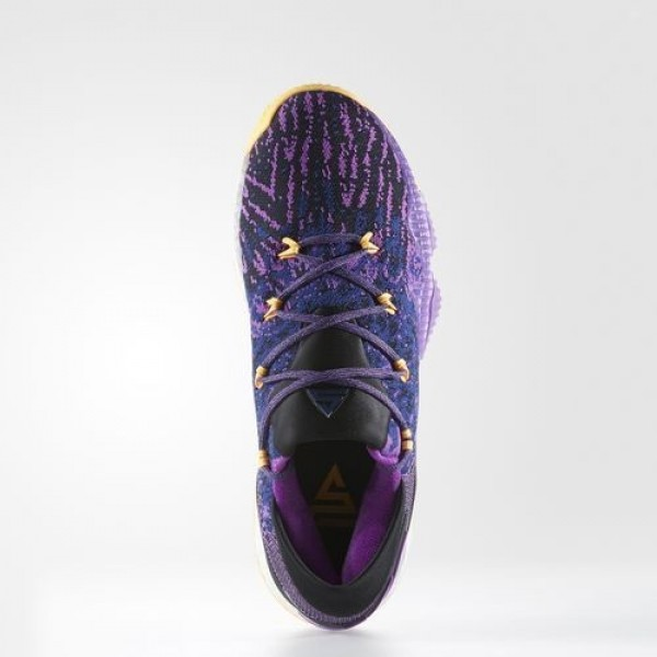Adidas Crazylight Boost Low 2016 Homme Shock Purple/Solar Gold/Core Black Basketball Chaussures NO: BB8175