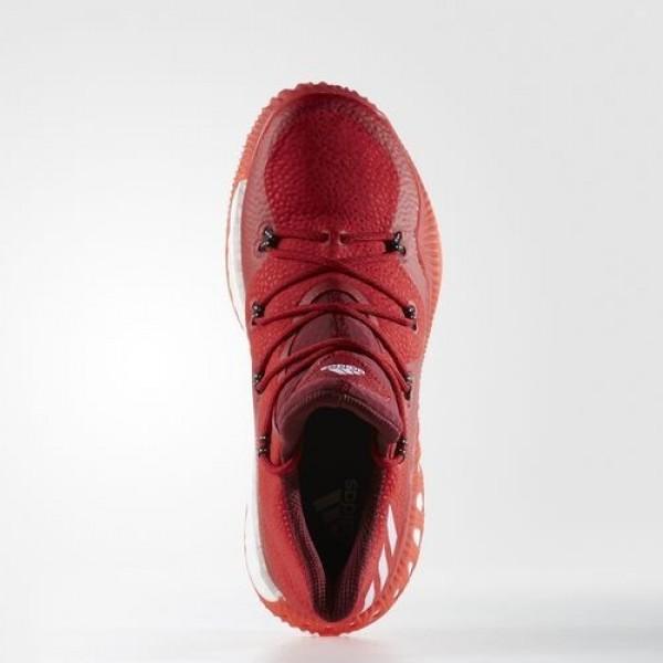 Adidas Crazy Explosive Low Homme Scarlet/Medium Grey Heather Solid Grey/Collegiate Burgundy Basketball Chaussures NO: BB8366