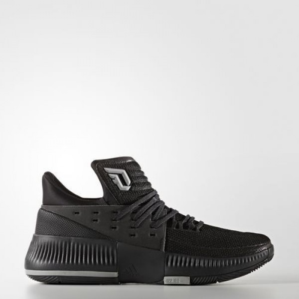 Adidas Dame 3 Lights Out Homme Core Black/Medium Grey Heather Solid Grey Basketball Chaussures NO: BY3206