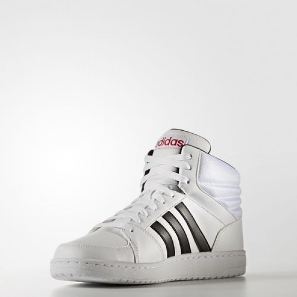 Adidas Vs Hoops Mid Femme Footwear White/Core Black/Scarlet neo Chaussures NO: B74501