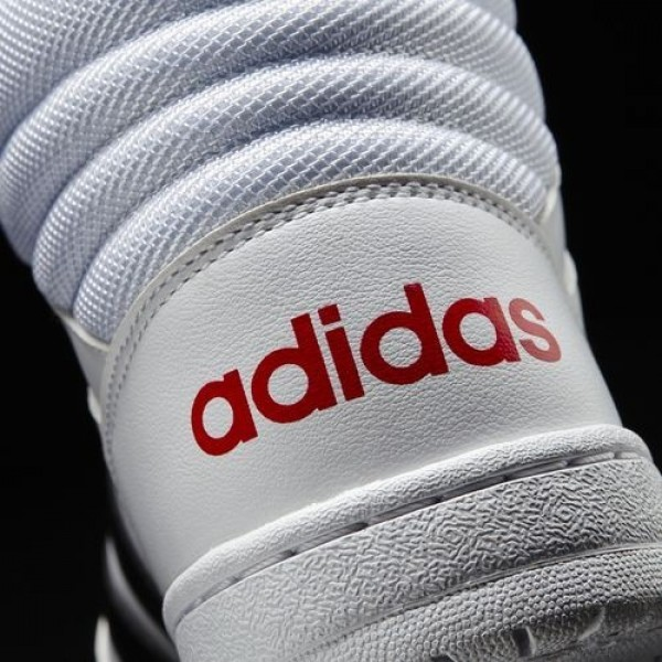 Adidas Vs Hoops Mid Femme Footwear White/Core Black/Scarlet neo Chaussures NO: B74501