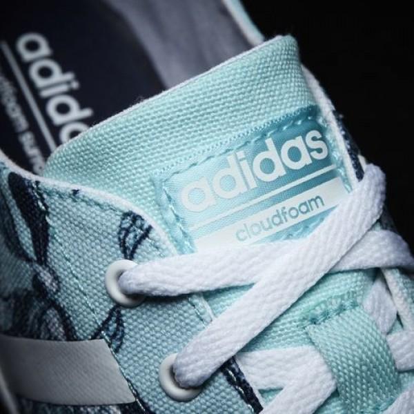 Adidas Cloudfoam Qt Vulc Femme Clear Aqua/Footwear White/Collegiate Navy neo Chaussures NO: B74584